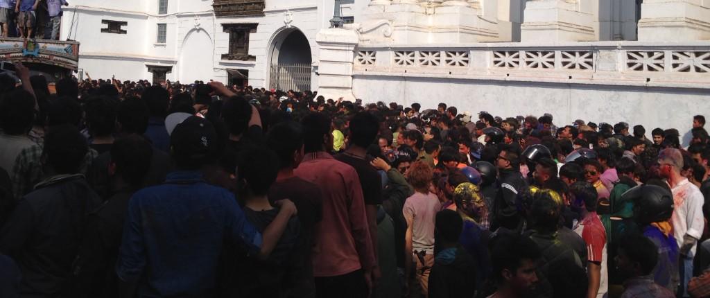 Color festival in Nepal