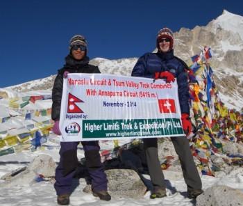 Manaslu Tsum Valley and Annapurna Circuit Trek