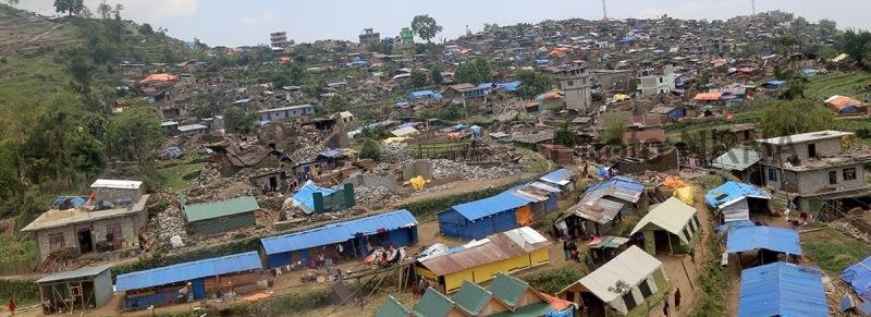 Barpak Village in Gorkha after first Earthquake April 2015