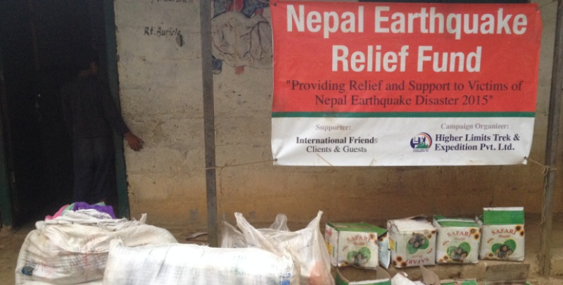 Goods & Meterials for Earthquake Victims